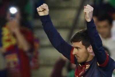 Lionel Messi, sang pemegang rekor baru. (Foto: Reuters)