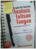 """Judul buku : Grapho for succes """" Analisis Tulisan Tangan"""""""