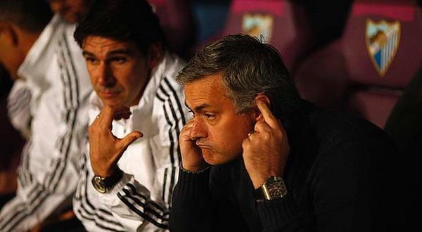 Eskpresi Mourinho ketika Madrid dikalahkan Malaga (Foto: Reuters)