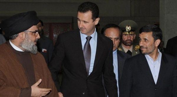 Foto : Pemimpin Hizbullah, Presiden Suriah & Iran (SANA)