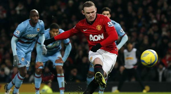 Wayne Rooney saat gagal mengeksekusi tendangan penalti pada babak kedua. (Foto: Reuters)