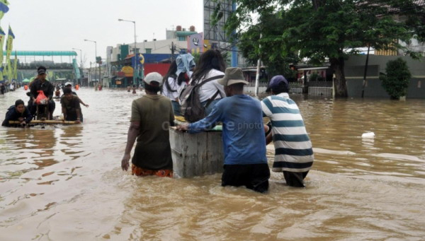 Banjir di Jakarta (Foto: Dok Okezone)