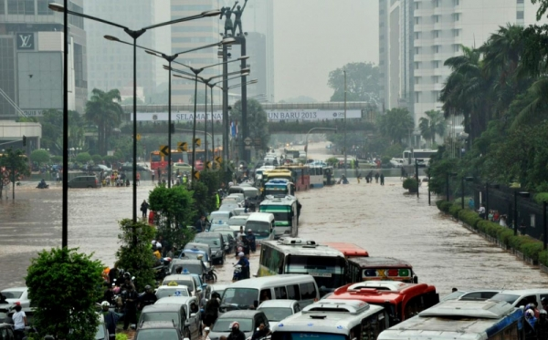 Ilustrasi banjir di Ibu Kota (Foto: Runi/okezone)