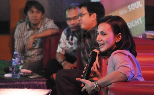 Wanda Hamidah ikut ditangkap di rumah Rafi Ahmad (Foto: Runi/Okezone)