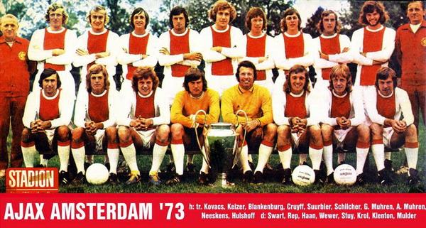 Ajax Amsterdam 1973 dianggap sebagai era terhebat sepanjang sejarah klub Eropa/Ist