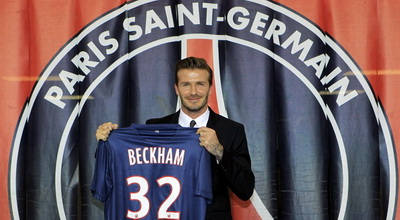 David Beckham resmi berseragam PSG (foto: Reuters)