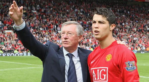 Sir Alex Ferguson dan Cristiano Ronaldo. (Foto: ist)