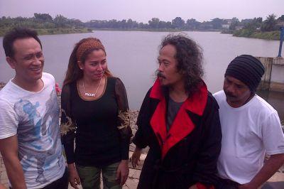 Pemain Jeritan Danau Terlarang (Situ Gintung) (Foto: Egie/Okezone)