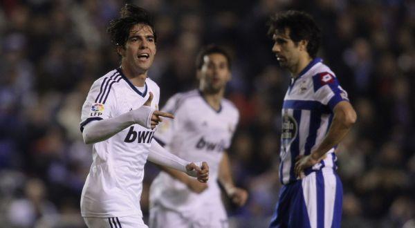 Kaka usai mencetak gol ke gawang Deportivo La Coruna. (Foto: Reuters)