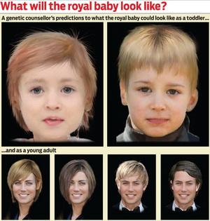 Ini Prediksi Wajah Anak Kate Middleton-Pangeran William