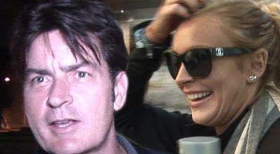 Charlie Sheen Dewa Penyelamat Lindsay Lohan