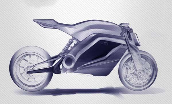 Gambar Konsep Motor Audi-Ducati (Audi Motorrad Concept)