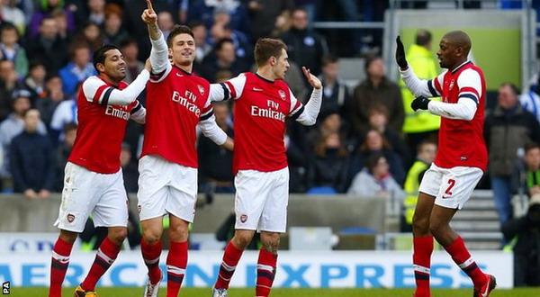 Para pemain Arsenal tengah membumbung tinggi moral dan kepercayaan dirinya/Ist