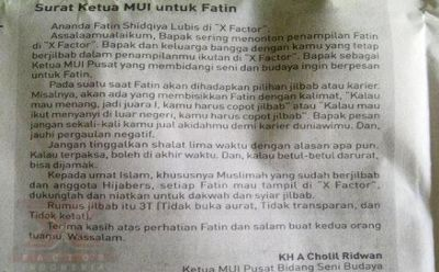 Fatin Dapat Dukungan Ketua MUI, Asalkan...