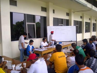 Suasana teknikal meeting MNC  Cup.(Alfa Mandalika)