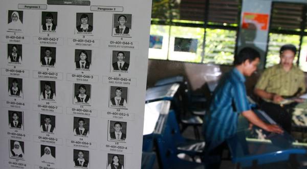 Pelaksanaan UN tingkat SMP (Ilustrasi, Foto: Koran Sindo)