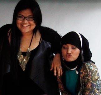 Shena dan Fatin (Foto: Runi Sari B./okezone)