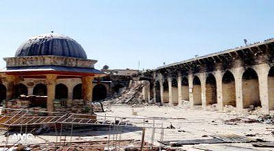 Kondisi Masjid Umayyad saat ini (Foto: Gulf News)