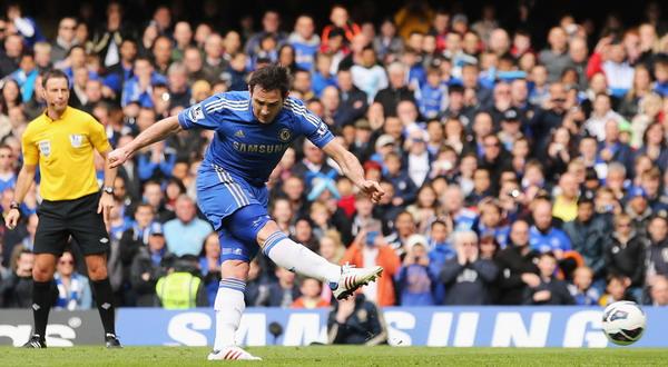 Frank Lampard saat melakukan eksekusi penalti (Foto: UK Sports)