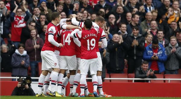 Para punggawa Arsenal. (Foto: Reuters)