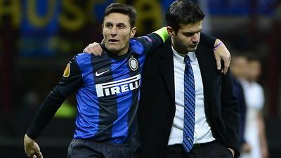 Javier Zanetti bersama pelatihnya Andrea Stramaccioni (foto: Ist)