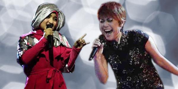 Fatin Shidqia dan Novita Dewi (Ilustrasi: Feri/okezone)
