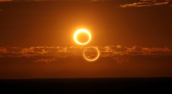 foto Gerhana Matahari Sebagian (GMS)