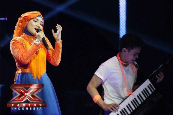 Fatin Shidqia saat tampil di Gala Show 11 (Foto: Arif/okezone)