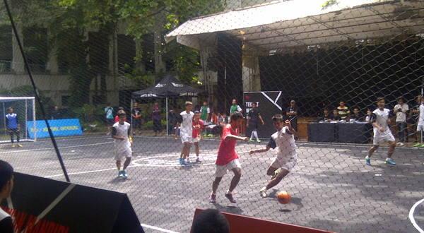Suasana pertandingan Nike Street Soccer (Foto: Ist)