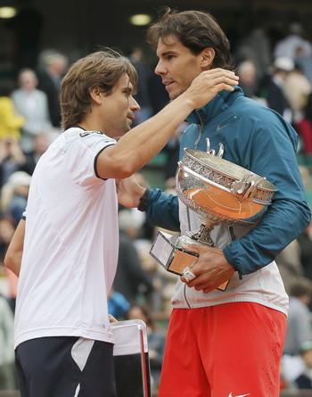 Sang Raja Tanah Liat, Rafael Nadal bersama David Ferrer/Reuters