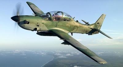 Pesawat Super Tucano buatan Brasil (Foto: Reuters)