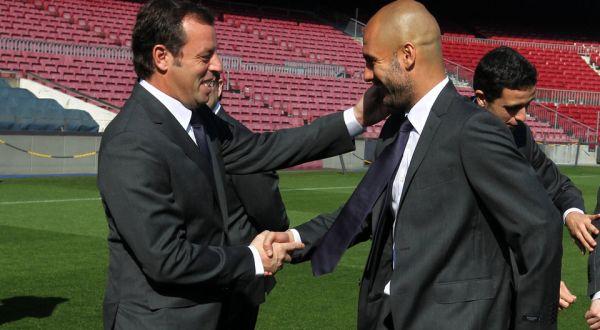 Sandro Rossell dan Josep Guardiola (Mundodeportivo)