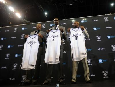 Perkenalan Kevin Garnett, Paul Pierce dan Jason Terry. (Foto: Ist)