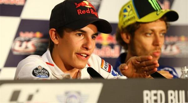 Marquez (kiri) dan Rossi (kanan). Foto: ist