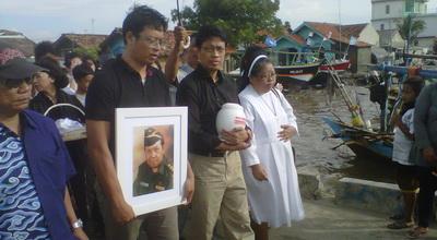 Abu Jenazah Ditabur di Laut, Keluarga Yakin Kris Biantoro Tenang