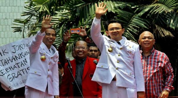 Jokowi dan Ahok usai dilantik jadi gubernur DKI (foto: Dede)