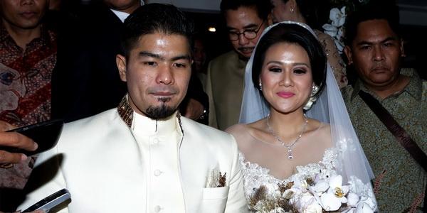Foto pernikahan Bams dan Mikha