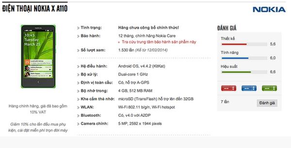 Nokia X A110 mulai dilego.