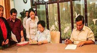 Ini Isi Perjanjian Batu Tulis Antara-Megawati dengan Prabowo