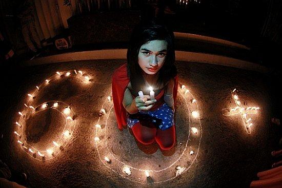 Kampanye Earth Hour 2014 di Gorontalo. (foto: Antara)