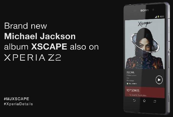 Album XSCAPE di Xperia Z2.