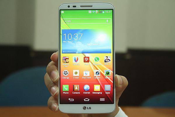 LG G2. (foto: Andina Librianty/Okezone)