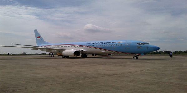 Pesawat Kepresidenan (Foto: Fahmi/Okezone)
