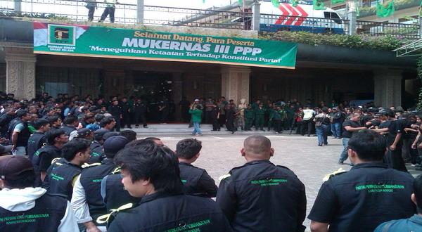 Jelang Mukernas PPP, Pasukan Keamanan Mulai Dikerahkan