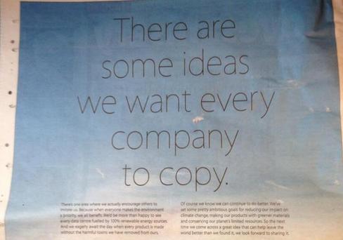 Iklan Apple di Hari Bumi 22 April 2014.