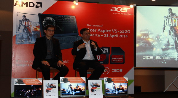 Notebook Acer Berprosesor AMD untuk Mainstream Gaming