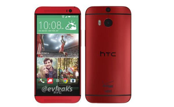 HTC One (M8) merah. (foto: Evleaks)