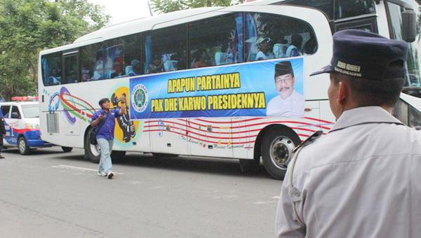 Dukungan untuk Soekarwo saat kampanye Demokrat (Nurul Arifin/Okezone)