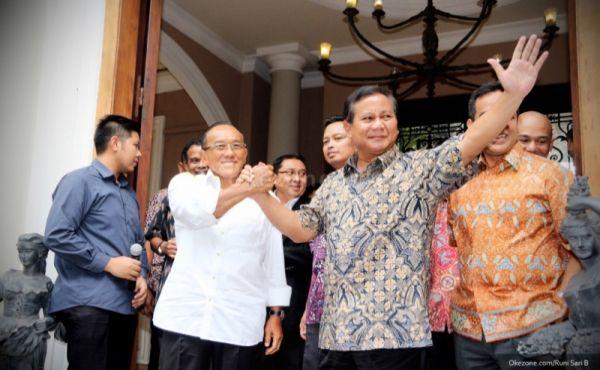 Abrizal Bakrie dan Prabowo Subianto (Foto: Dok. Okezone)