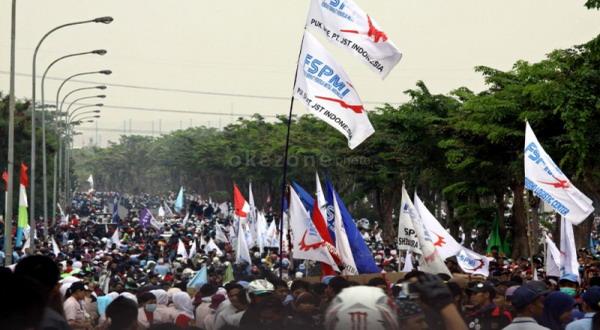 Tak Semua Buruh Deklarasi Dukungan Capres